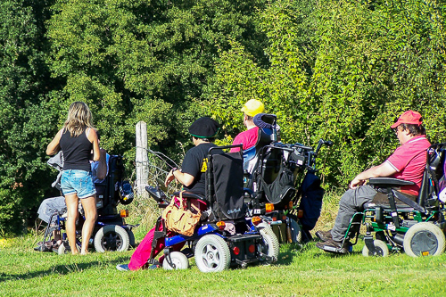 Accueil de personnes handicapées à la ferme pédagogique
