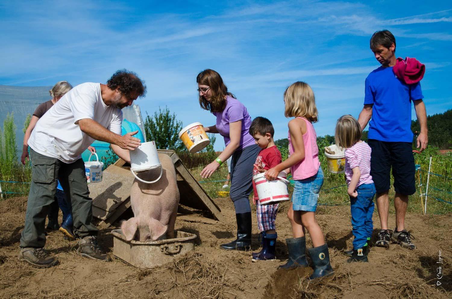 Accueil de familles à la ferme pédagogique